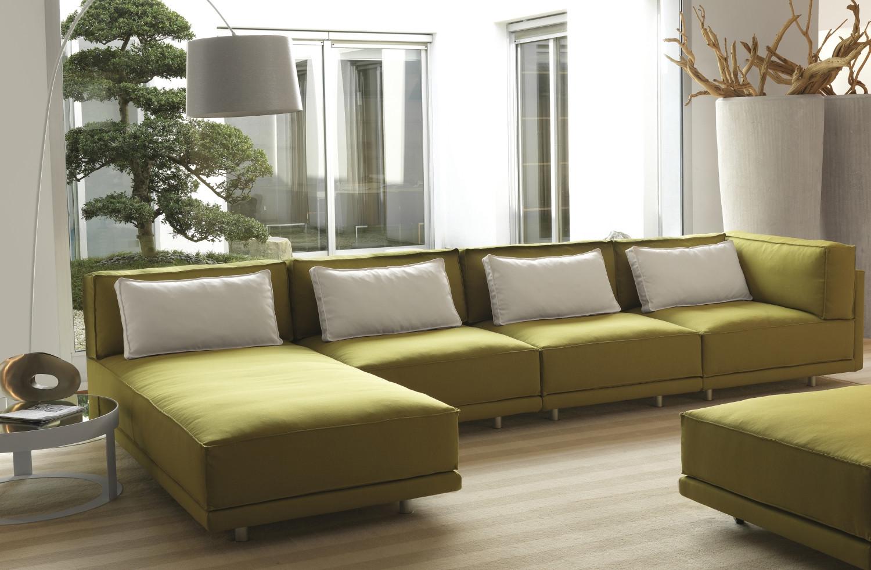 Cuscini di schienale per divano in piuma dennis for Divano senza braccioli