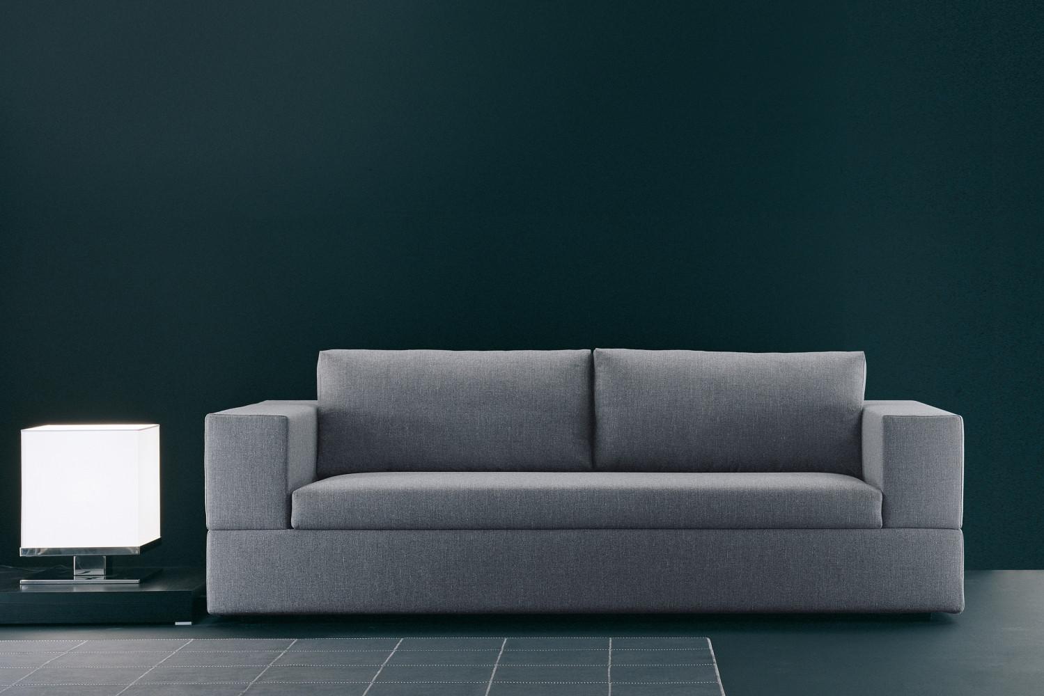 Divano in pelle nera jaco for Divani e divani divani letto