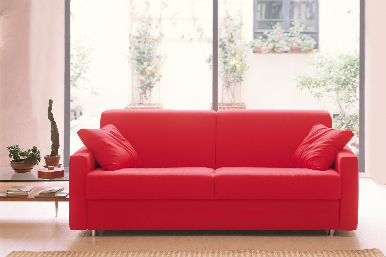 Stunning divano letto lampo in tessuto colorato con - Divano letto 2 posti economico ...
