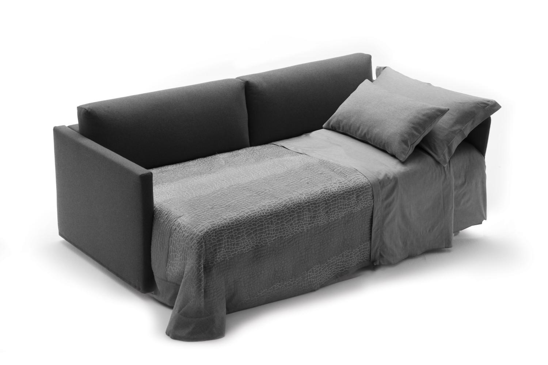 Divano letto con letto estraibile frank for Letto singolo con materasso