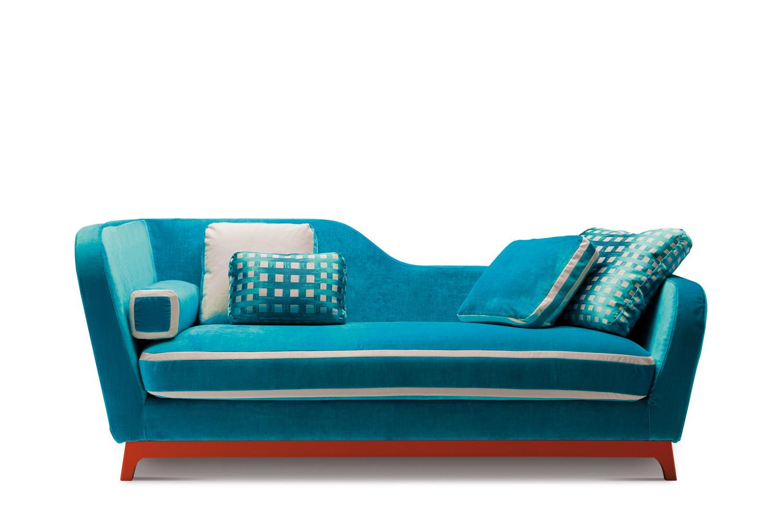 Divano letto design in tessuto e velluto jeremie