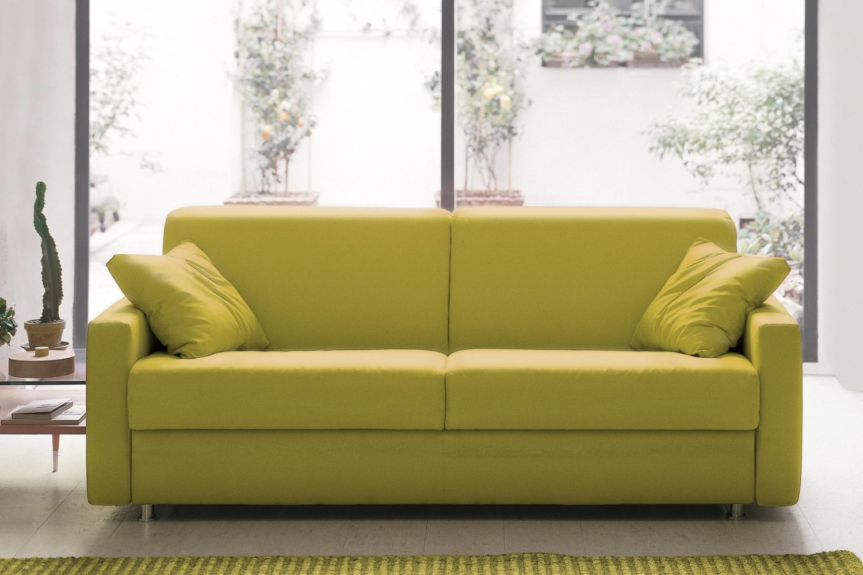 Divano letto con schienale ribaltabile eric for Divano letto ribaltabile