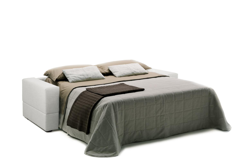 Divano letto in tessuto sfoderabile brian - Letto con materasso incluso ...