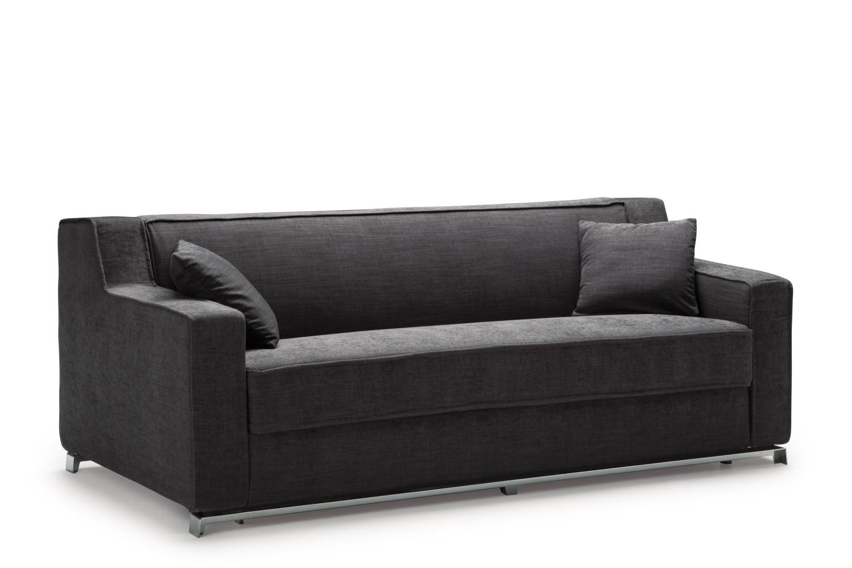 Divano nero moderno larry - Divano 3 posti divano 2 posti ...