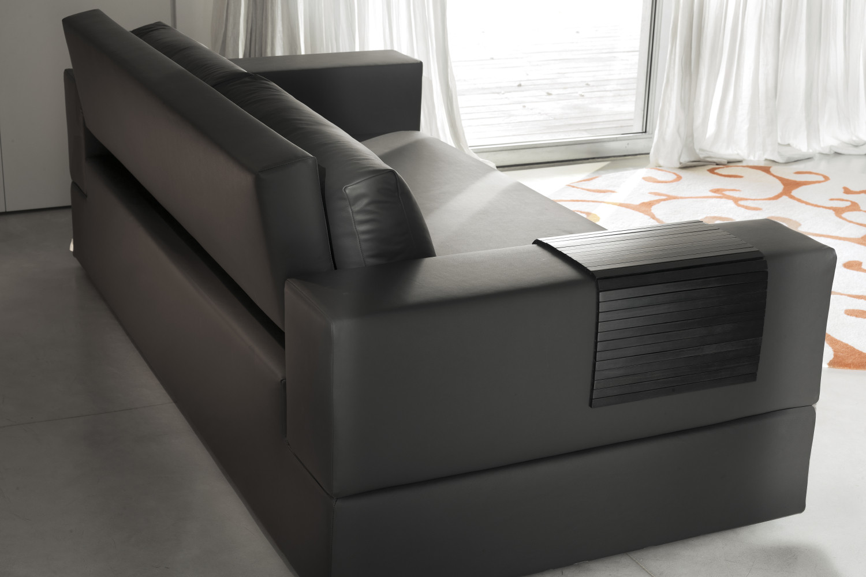 divano in pelle nera jaco - Divano In Pelle Nera Letto