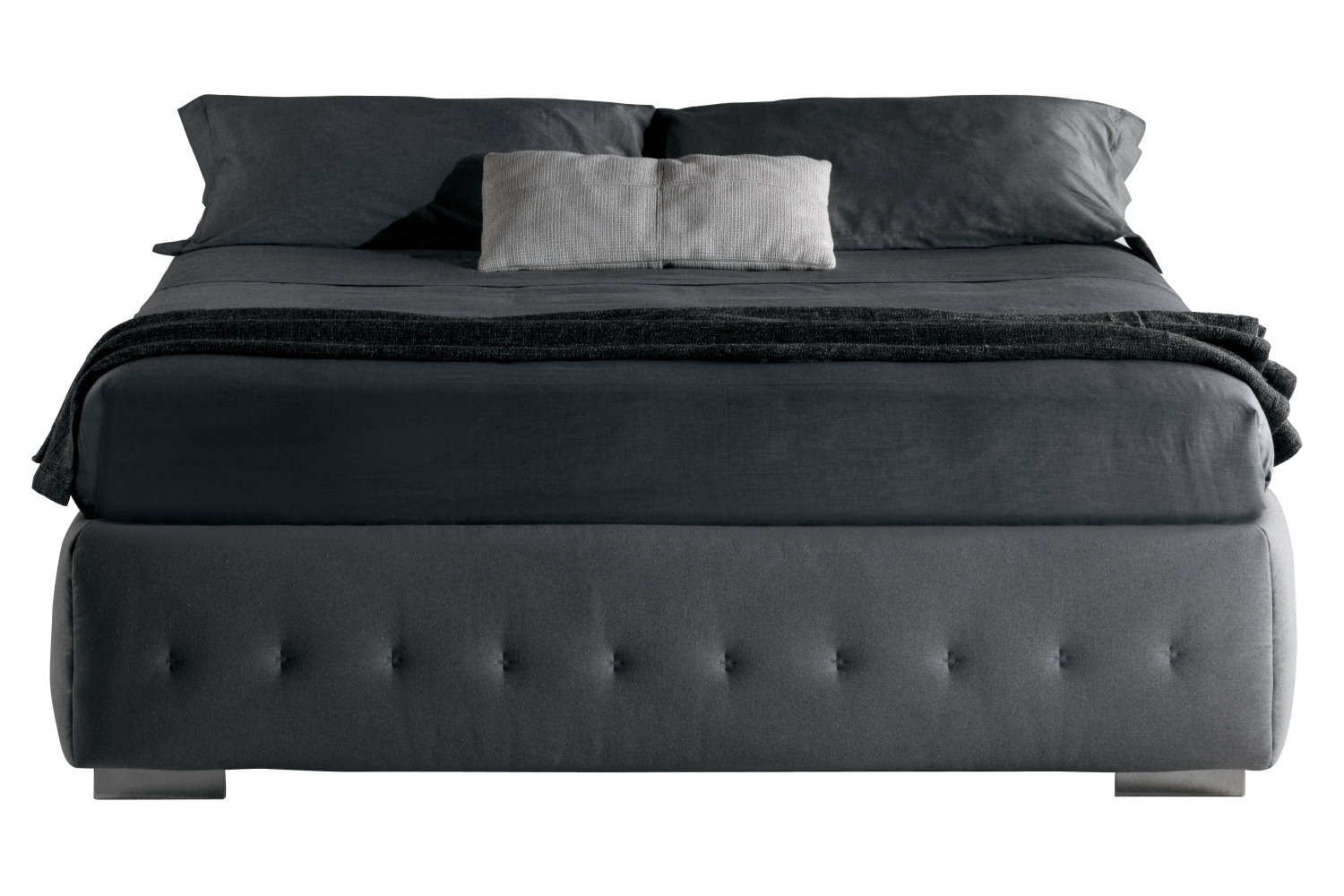 letto sommier imbottito raja. Black Bedroom Furniture Sets. Home Design Ideas