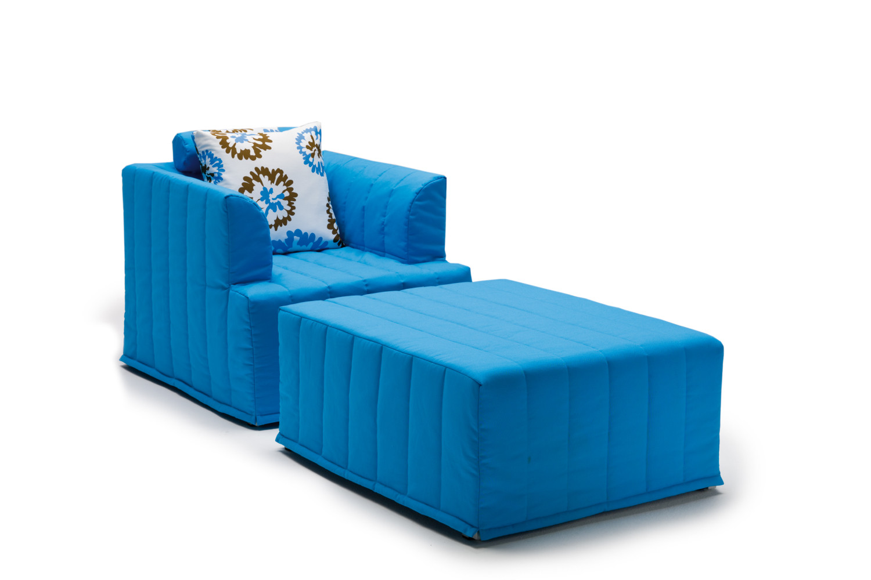 Pouf trasformabile in letto chick - Pouf letto singolo ...