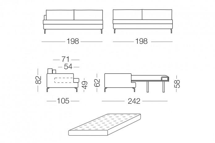 3 posti con letto