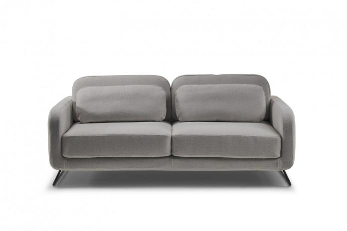Divano letto 2/3 posti moderno con piedini in metallo a slitta