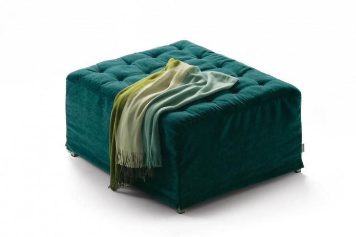 Pouf letto in tessuto capitonnè Dorsey Pouf