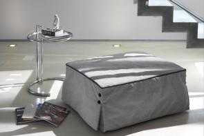 Bill è un arredo salvaspazio unico: un pouf letto a una piazza e mezza o singolo.