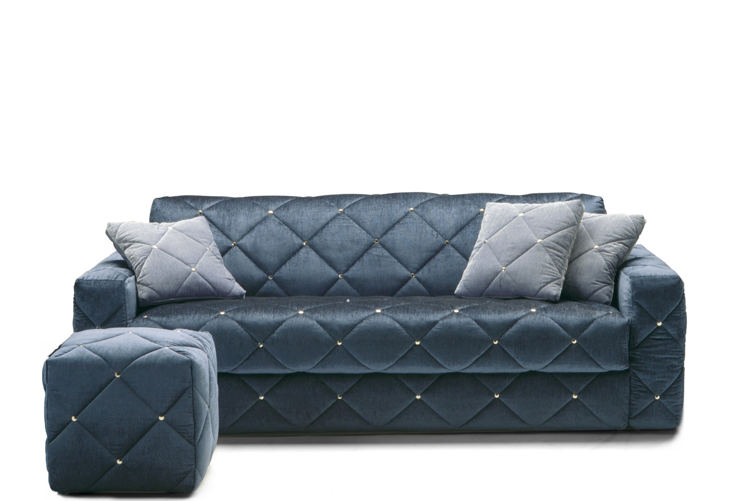 Douglas Quilted Sofa With Diamond Tufted Decoration.
