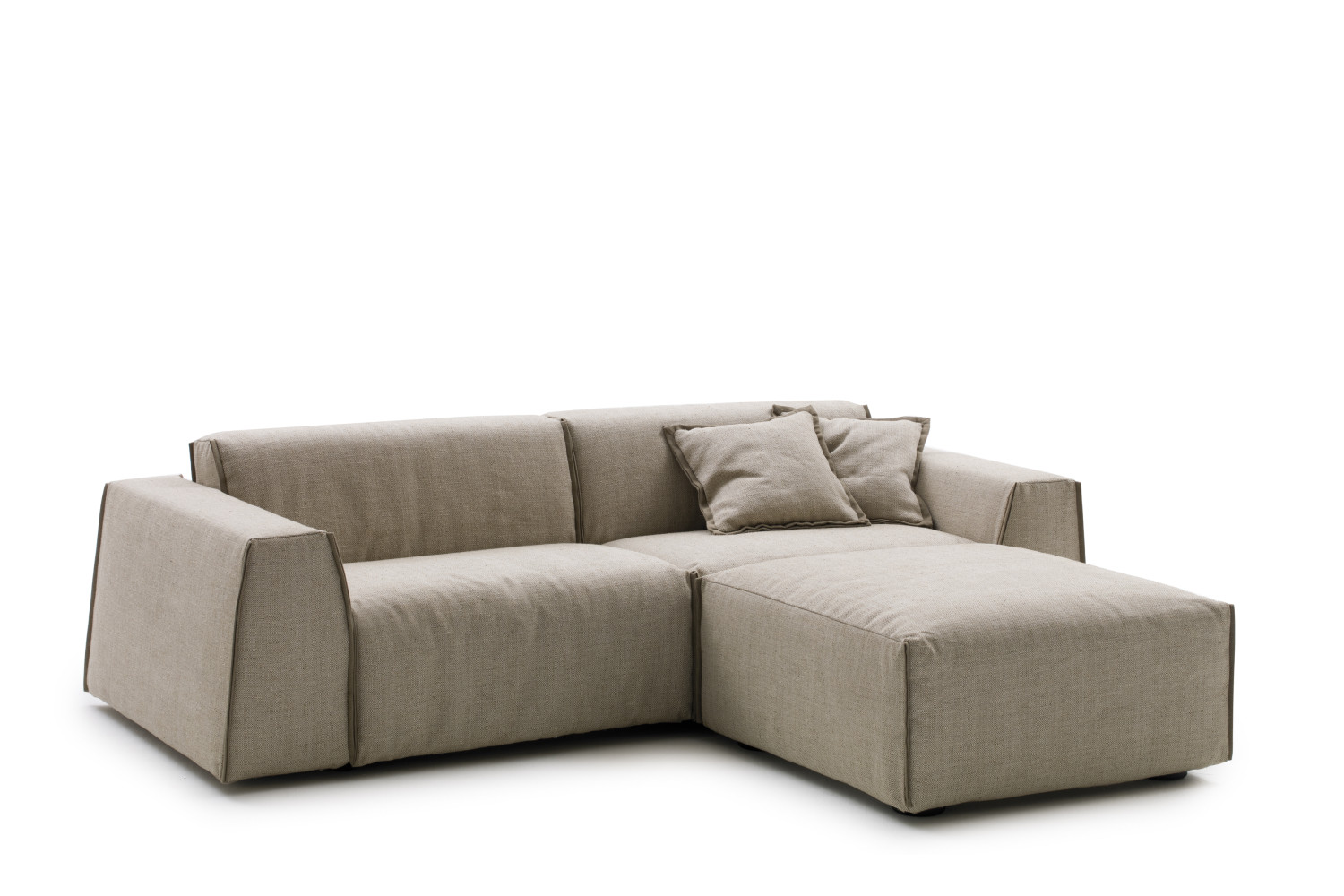 Bed chair backrest - Parker Sofa Bed With Low Backrest Combined With The Ottoman From The Same Collection