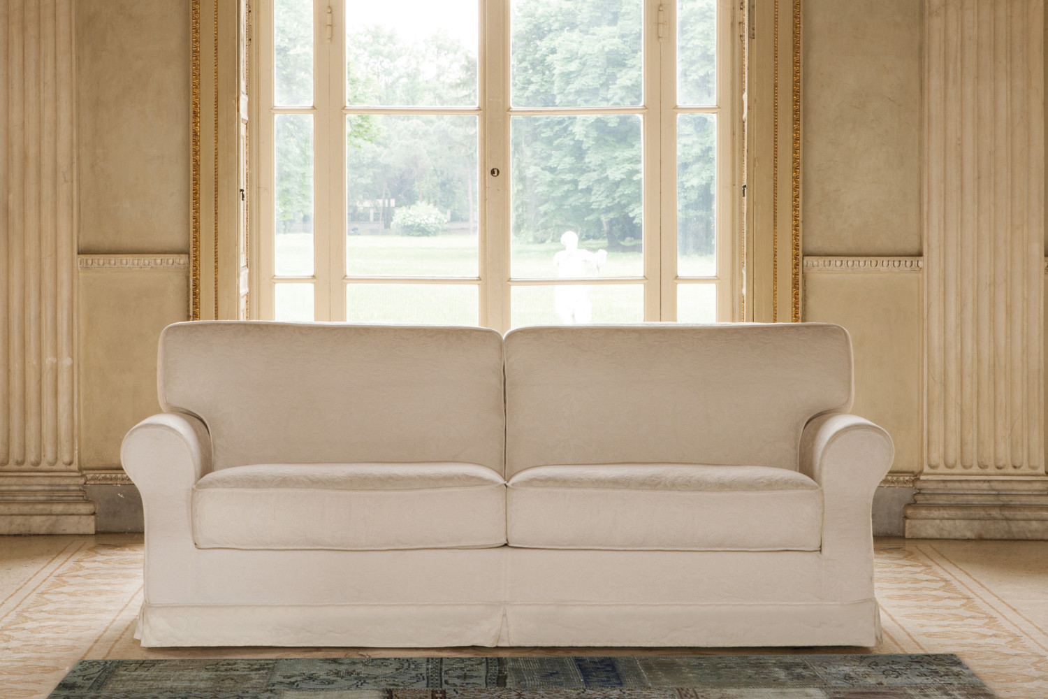 Gordon sofa bed with flounce cover