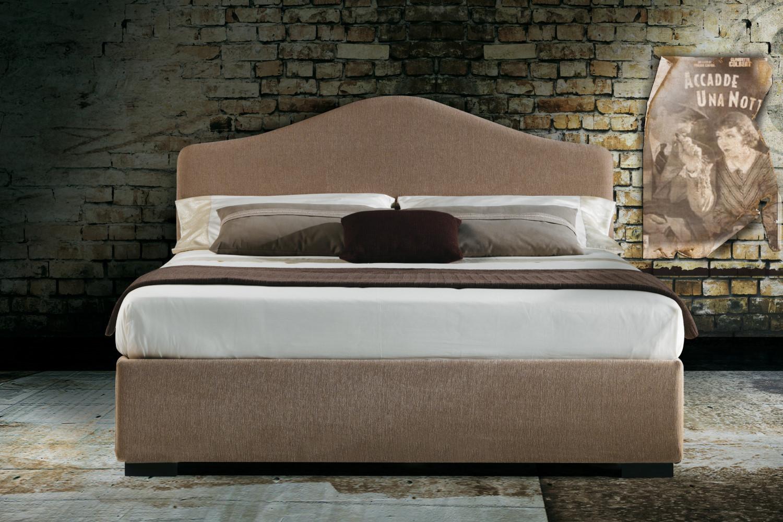 Samoa bed with wavy headboard