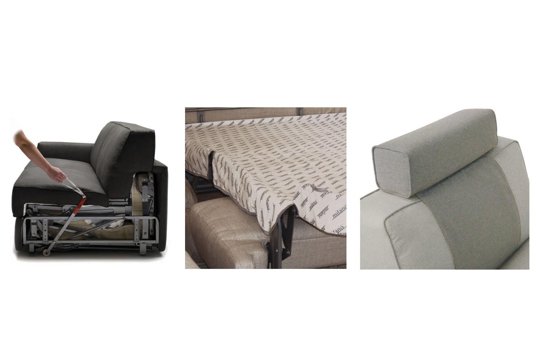 Taylor Grey Fabric Sofa Bed