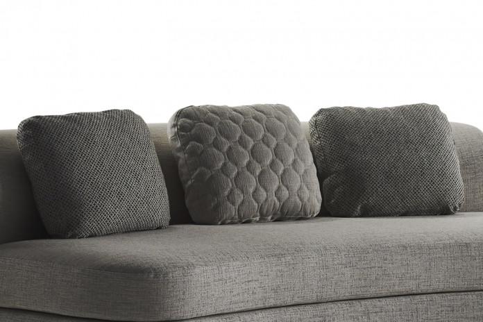 Plain and tufted throw cushions for Goodman sofa
