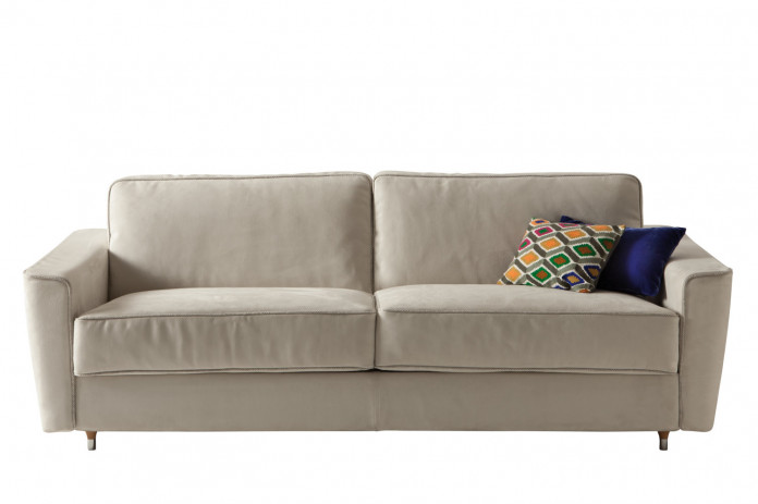 Petrucciani sofa with flared armrests.