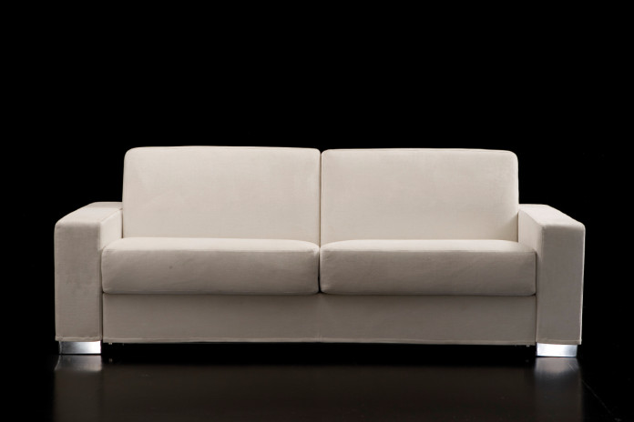 Duke white 2-seater couch.