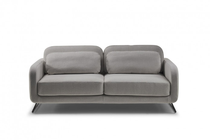 Contemporary 2 or 3 seater sofa bed with metal base