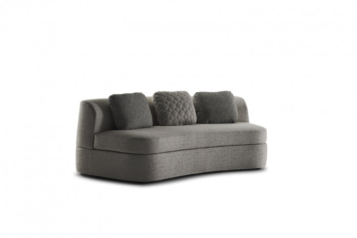 2-3 seater armless curved sofa bed