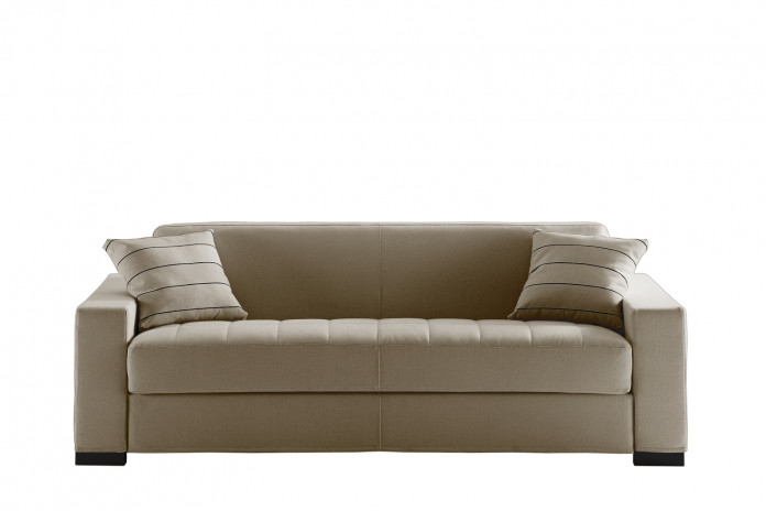 Matrix sofa with quilted seat.