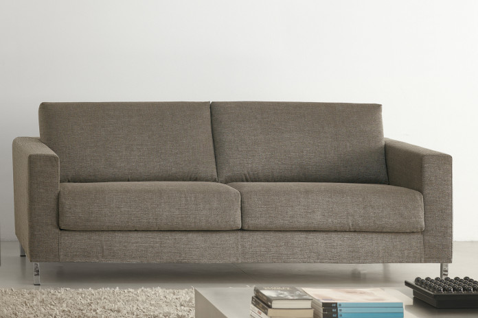 James linear sofa with high feet.
