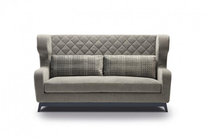 Morgan bergére sofa with high backrest.