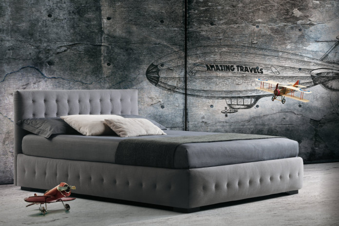 Phuket tufted bed with removable cover by MilanoBedding