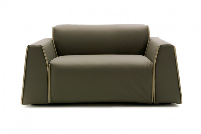 Parker armchair bed with flared armrests