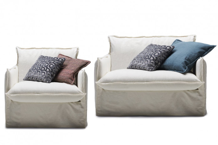 Extra wide armchair in two sizes: cm 81 or 115