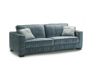 Garrison sofa with ruched cover.