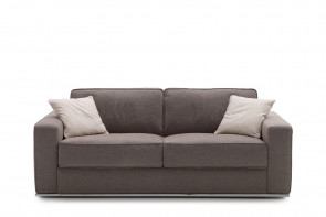 Prince sofa with chromed metal base.