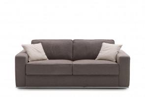 Prince sofa with chromed metal base.