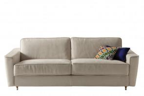 Petrucciani sofa with flared armrests.