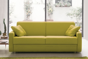 Eric yellow 2-seater sofa.