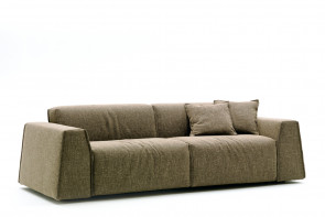 Parker couch with thick armrests.