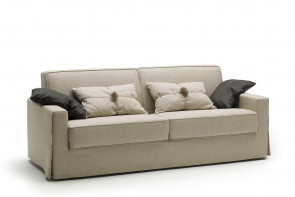 Taylor grey fabric sofa bed.