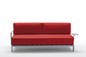 Willy Side is a space-saving sofa bed that opens on the short side, available as single and double bed