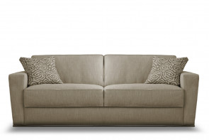 Shorter couch with storage chaise longue.