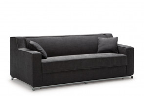 Larry 3-seater sofa with metal base
