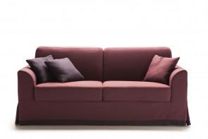 Ellis sofa with modern curved armrests.