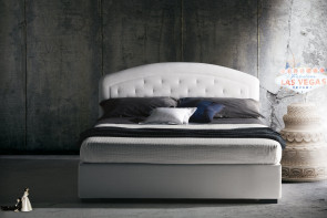 Moorea bed with tufted rounded headboard by Milano Bedding