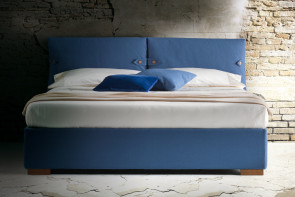 Marianne bed with headboard with decorative cushions by Milano Bedding