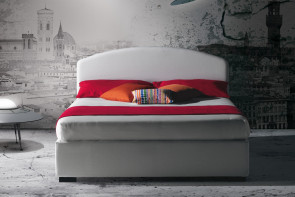 Domingo padded bed with curved headboard by Milano Bedding