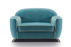 Charles velvet armchair with a retro style