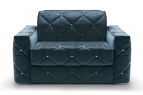 Douglas button tufted armchair bed