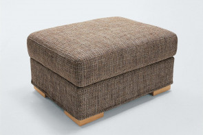 Duke rectangular ottoman with wooden feet