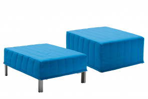 Chick is an ottoman bed with folded mattress convertible into a single bed, and available with two cover models.