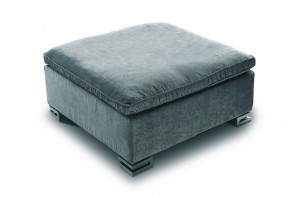 Garrison upholstered square ottoman with fabric, leather or eco-leatehr cover.
